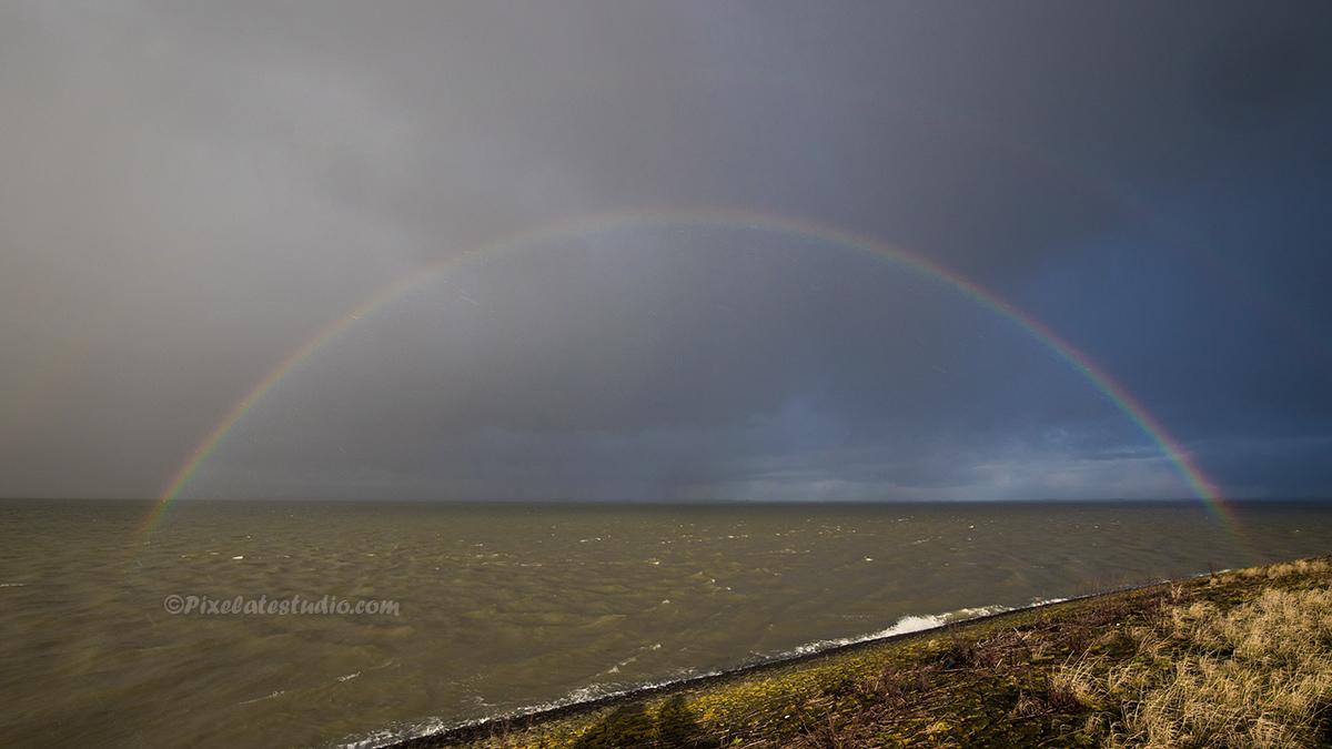 mooie foto van de regenboog
