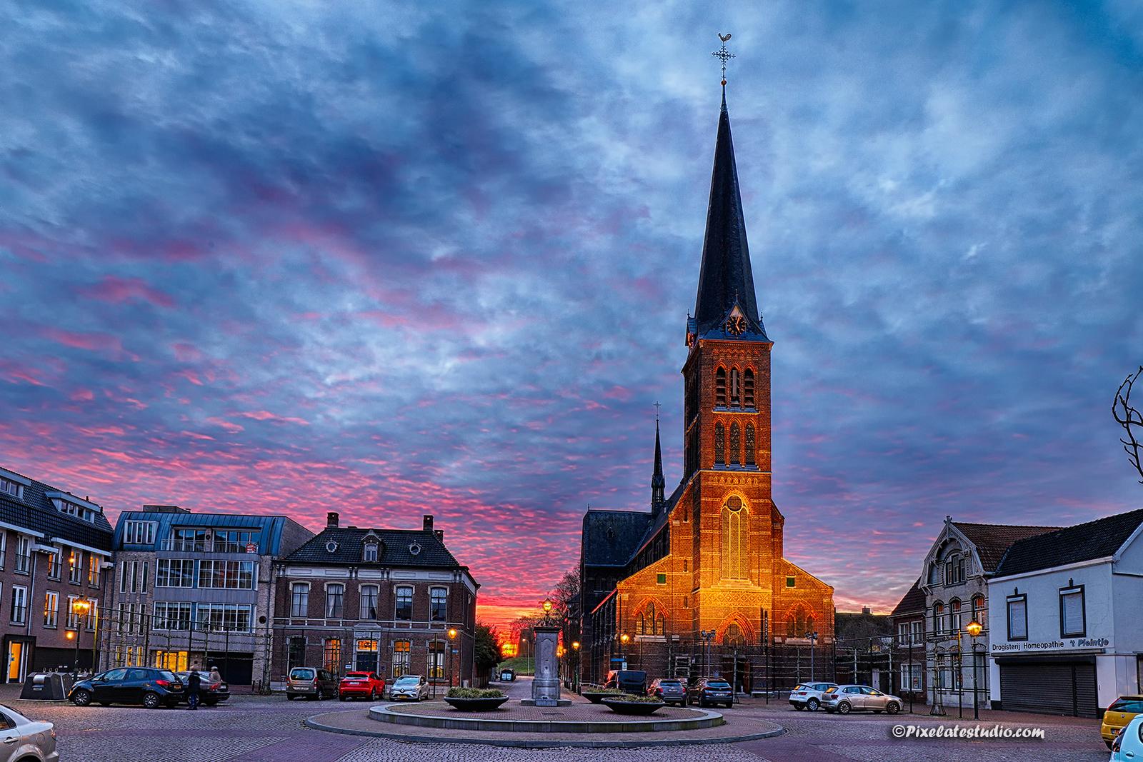 mooie foto van Markt 4 te Sas van Gent