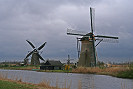 Old fashioned windmill picture, kinderdijk windmill picture