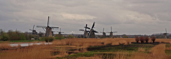 Photo taken from Kinderdijk Windmills, Holland, the Netherlands
