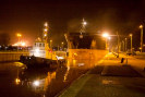 Picture of a ship in the locks at terneuzen
