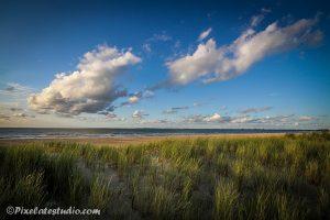 foto van duinen en strand