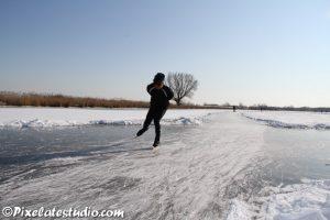 snelle schaatser