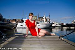 Fotoshoot met model in Jachthaven te Antwerpen