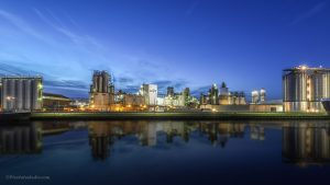 Foto van industrie Sas van Gent, dit is de fabriek van Cargill