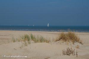 mooie strandfoto van rustig strand in de zomer