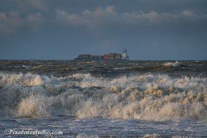 foto van ruige zee