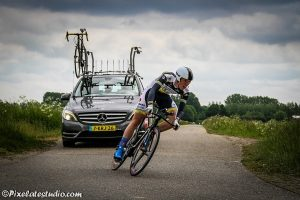 Mooie actiefoto van het wielrennen