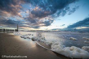 Strand foto met mooie lucht