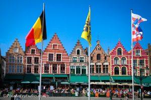 Vlaggen op de grote markt