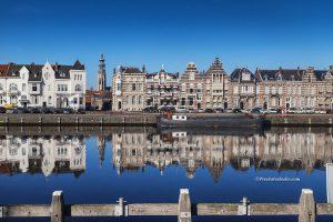 Mooie foto van Middelburg, Zicht op Middelburg, Middelburg met Lange Jan
