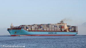 mooie foto groot containerschip