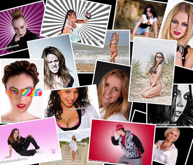 Portfolio modellenfoto's