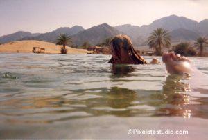 foto van de kust in Nuweiba, Egypte