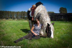 Vrouw met paard