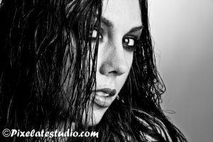 Wet look , modellenfoto met wet look