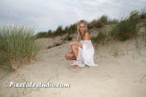 amateur model - fotoshoot aan het strand