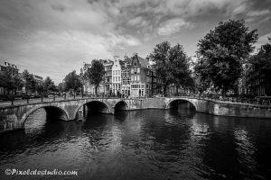 Mooie zwart-wit foto van Amsterdam