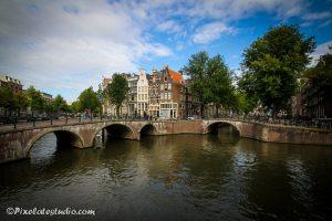 veel gefotografeerde plek in Amsterdam