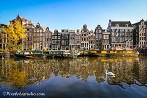 Mooie foto van de Singel , Amsterdam