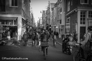 Foto straatbeeld Amsterdam