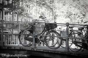 Foto fietsen Amsterdam