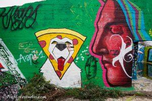 Mooie kleuren graffitifoto
