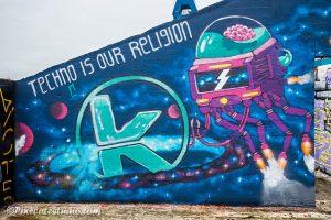 Graffiti: Techno is our religion