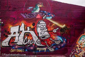 Graffiti met mooie kleuren
