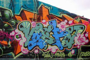 Vespa graffiti foto, mooie kleuren