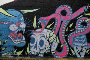 mooie foto van graffiti met mooie kleuren