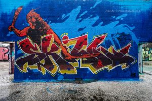 Graffiti foto, met mooie kleuren