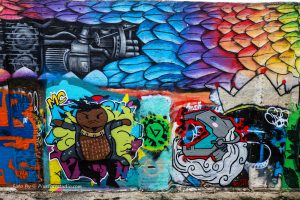 foto van Graffiti met mooie kleuren