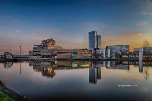 foto van Terneuzen, het waterfront , stadhuis