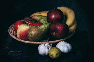 mooie foto van een fruitschaal, mooi stilleven